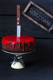 Bleeding monster cake. Royalty Free Stock Photo