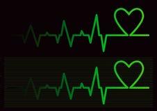 bleep καρδιά Στοκ Εικόνα