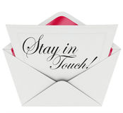 Bleiben die Buchstabe-Kommunikation halten aktualisiert in Kontakt Lizenzfreies Stockfoto