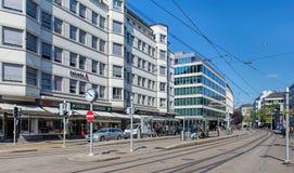 Bleicherweg街道在苏黎世 免版税库存图片