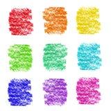 Bleistift-Anschlagproben der Regenbogenfarbe kosmetische Lizenzfreies Stockbild