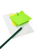 Bleistift auf dem Blatt Papier Lizenzfreie Stockfotografie