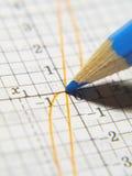 Bleistift auf einem Schreibenbuch stockbild