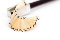 Bleistift auf einem weißen Hintergrund Lizenzfreies Stockfoto