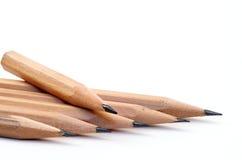 Bleistift auf einem weißen Hintergrund. lizenzfreie stockfotos