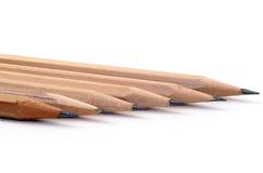 Bleistift auf einem weißen Hintergrund. Stockfoto