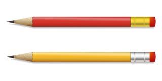 Bleistift auf einem weißen Hintergrund Lizenzfreie Stockfotografie
