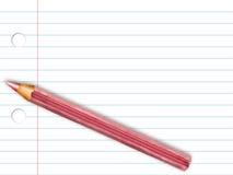 Bleistift auf gezeichnetem Papier Stockfoto