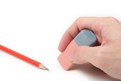 Bleistift auf Weiß Lizenzfreies Stockbild