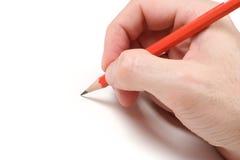 Bleistift auf Weiß Lizenzfreie Stockfotos