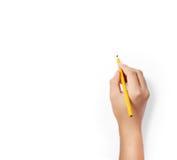 Bleistift in den Händen Lizenzfreie Stockbilder