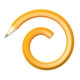 Bleistift in der gewundenen Form Lizenzfreie Stockfotos