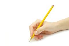 Bleistift in der Hand Lizenzfreie Stockbilder