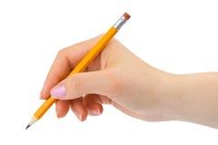 Bleistift in der Hand Lizenzfreie Stockfotografie