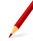 Bleistift der roten Farbe lizenzfreie stockbilder