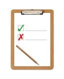 Bleistift des angeordneten Papiers des Schule-Klemmbrettes stockfotos