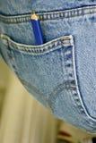 Bleistift in einer Tasche Stockfotos