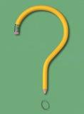 Bleistift-Frage Stockbild