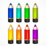Bleistift-gesetzte Farbvektorillustration Stockbild