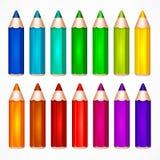 Bleistift-gesetzte Farbvektorillustration Stockbilder
