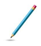 Bleistift getrennt auf weißem Hintergrund Stock Abbildung