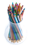 Bleistift im Glas Lizenzfreie Stockbilder