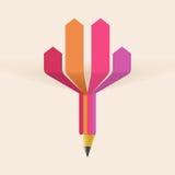 Bleistift infographics Lizenzfreies Stockfoto