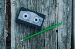 Bleistift, Kasetten Stockbild