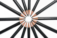 Bleistift Kreis-von oben Stockbild