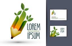 Bleistift Logo, Ikone, Zeichen, Emblem, Schablone, Lizenzfreies Stockfoto