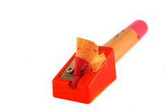 Bleistift mit dem Rasieren Lizenzfreie Stockfotos