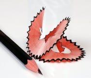 Bleistift mit dem Rasieren Lizenzfreie Stockbilder