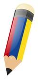 Bleistift mit geführtem und rundem Radiergummi des Scharfen Lizenzfreie Stockbilder