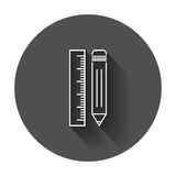 Bleistift mit Machthaberikone Machthabermeter-Vektorillustration Stockbild