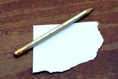 Bleistift mit Papier Lizenzfreie Stockfotos