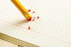 Bleistift mit Radiergummi Stockfoto