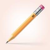 Bleistift mit rosa Radiergummi lizenzfreie abbildung