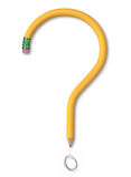 Bleistift Quesiton Lizenzfreie Stockfotografie