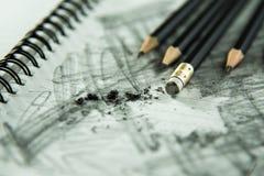 Bleistift-Radiergummi Lizenzfreie Stockfotos