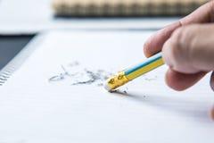Bleistift-Radiergummi Lizenzfreie Stockfotografie