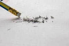 Bleistift-Radiergummi Stockfoto