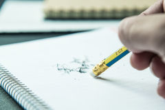 Bleistift-Radiergummi Stockbild