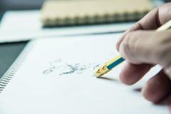 Bleistift-Radiergummi Lizenzfreies Stockfoto
