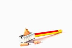Bleistift-Radiergummi und Bleistift Lizenzfreie Stockfotos