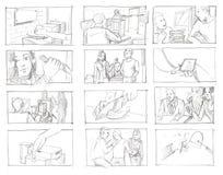 Bleistift Storyboards Lizenzfreie Stockfotografie