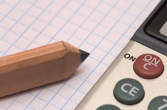 Bleistift und Übung Lizenzfreies Stockfoto