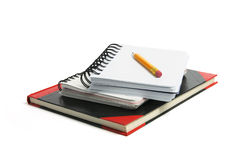 Bleistift und Anmerkungs-Bücher Stockfotografie