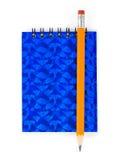 Bleistift und Anmerkungsauflage Stockbilder