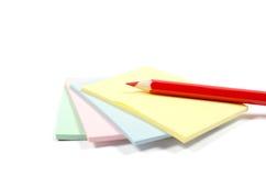 Bleistift und Aufkleber Lizenzfreie Stockbilder