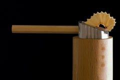 Bleistift und Bleistift geschärft worden Lizenzfreie Stockfotografie